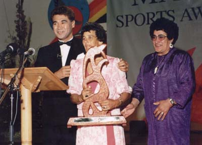 Rawiri Paratene, Margaret Hiha – Sports Administrator, June Mariu