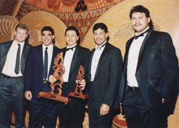 Steve Lonergan, Mal Maninga, Jeff Green – Coach of the Year, Hugh McGahan, Peter Pokai