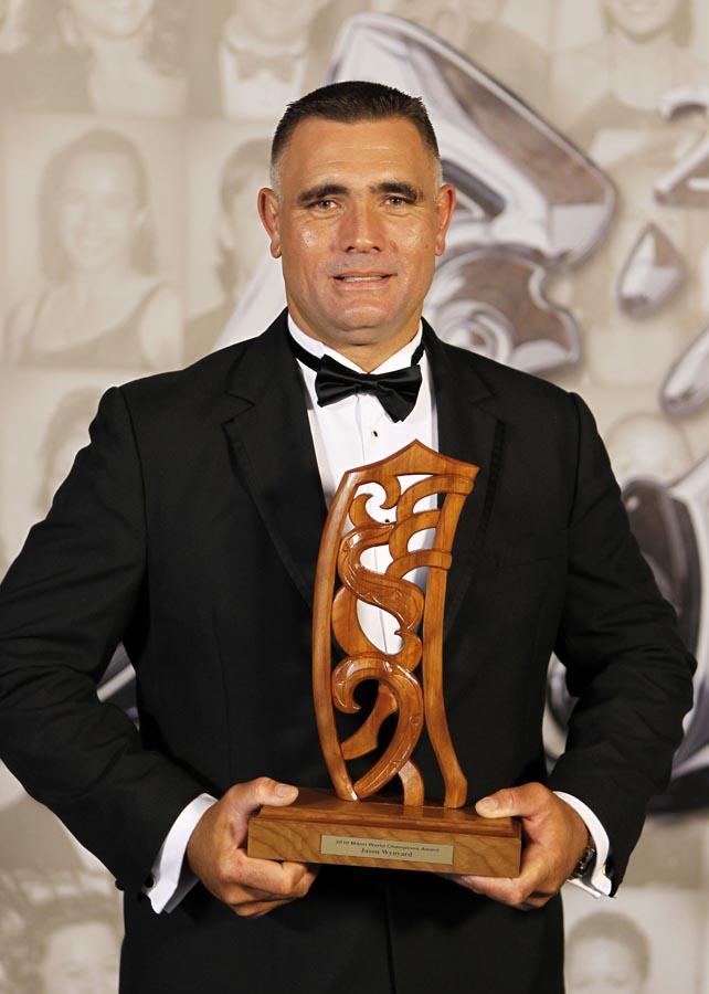 Jason Wynard, world champion wood chopper. Trillian Trust 20th Maori Sports Awards, Telstra Clear Events Centre, Manukau, Auckland, Saturday 4 December 2010. Photo: Simon Watts/photosport.co.nz