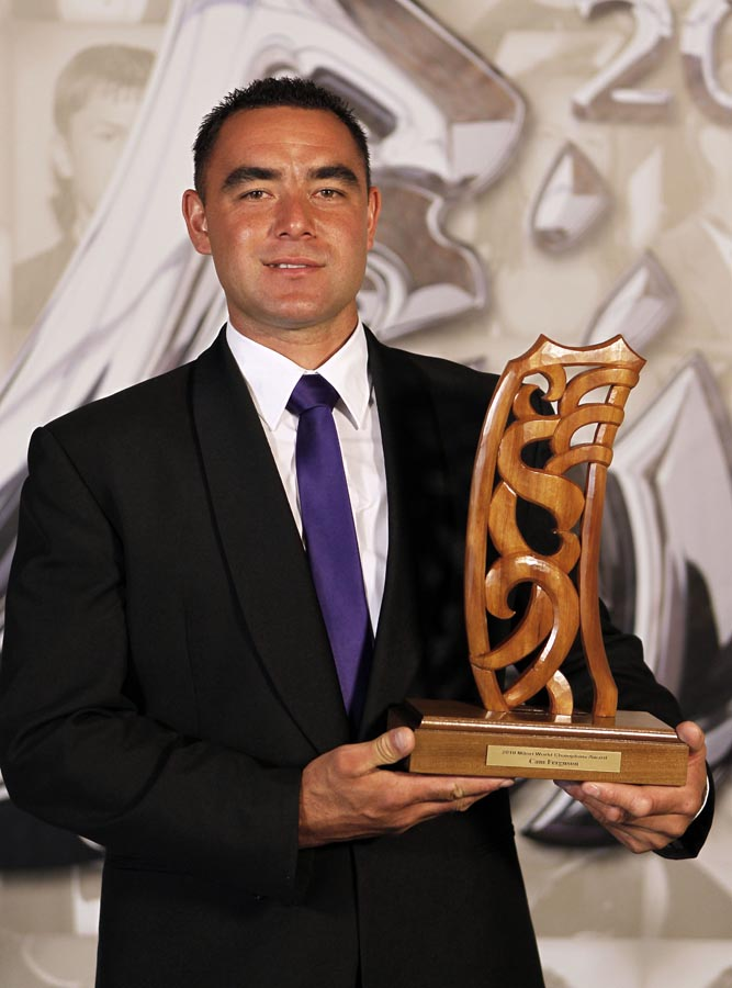 Cam Ferguson, world champion shearer. Trillian Trust 20th Maori Sports Awards, Telstra Clear Events Centre, Manukau, Auckland, Saturday 4 December 2010. Photo: Simon Watts/photosport.co.nz