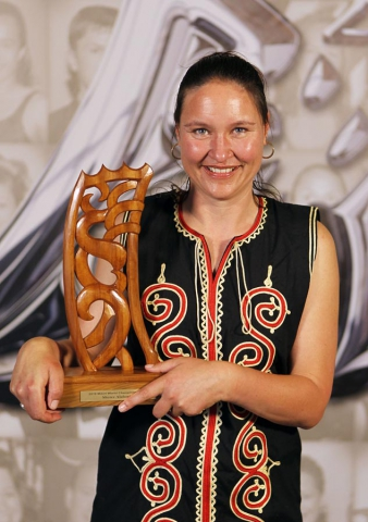 Sheree Alabaster, world champion wool handler. Trillian Trust 20th Maori Sports Awards, Telstra Clear Events Centre, Manukau, Auckland, Saturday 4 December 2010. Photo: Simon Watts/photosport.co.nz