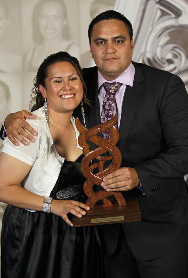 Media Award winner Bailey Mackey. Trillian Trust 20th Maori Sports Awards, Telstra Clear Events Centre, Manukau, Auckland, Saturday 4 December 2010. Photo: Simon Watts/photosport.co.nz