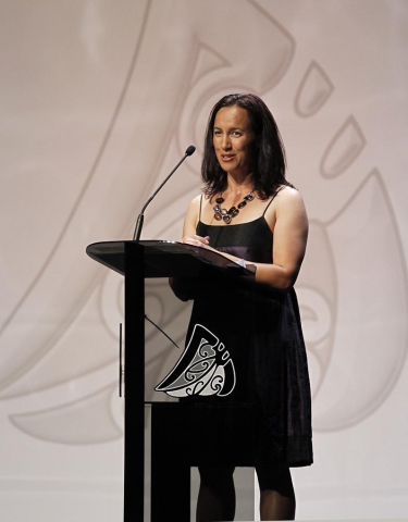 Maori Sportswoman of the year presented by Farah Palmer, ex Black Ferns captain. Trillian Trust 20th Maori Sports Awards, Telstra Clear Events Centre, Manukau, Auckland, Saturday 4 December 2010. Photo: Simon Watts/photosport.co.nz