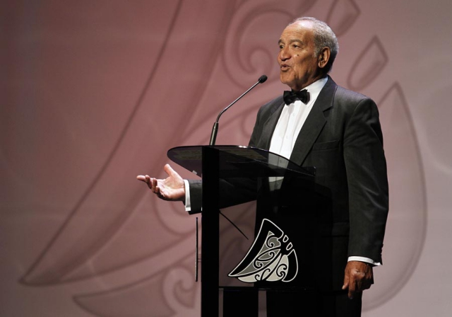 Pine Harrison. Trillian Trust 20th Maori Sports Awards, Telstra Clear Events Centre, Manukau, Auckland, Saturday 4 December 2010. Photo: Simon Watts/photosport.co.nz