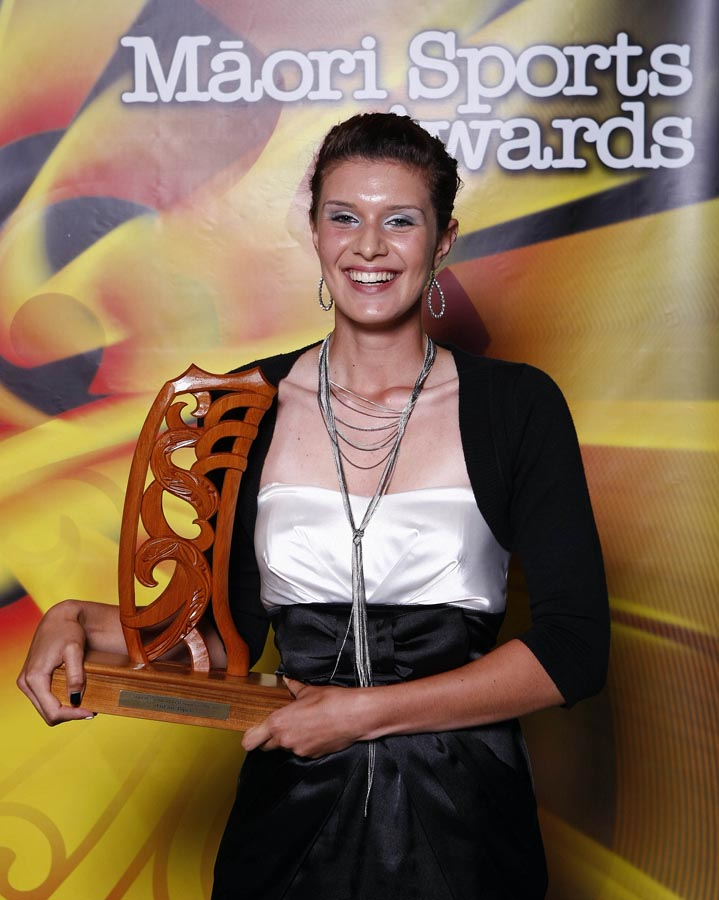 Junior Sportswomen of the Year winner Tiffany Piper. Trillian Trust Maori Sports Awards, Manukau Events Centre, Auckland. Saturday 5 December 2009. Photo: Simon Watts/PHOTOSPORT