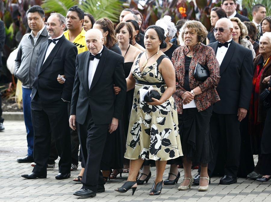 Guests make their way into the arena during the Powhiri. Trillian Trust Maori Sports Awards, Manukau Events Centre, Auckland. Saturday 5 December 2009. Photo: Simon Watts/PHOTOSPORT