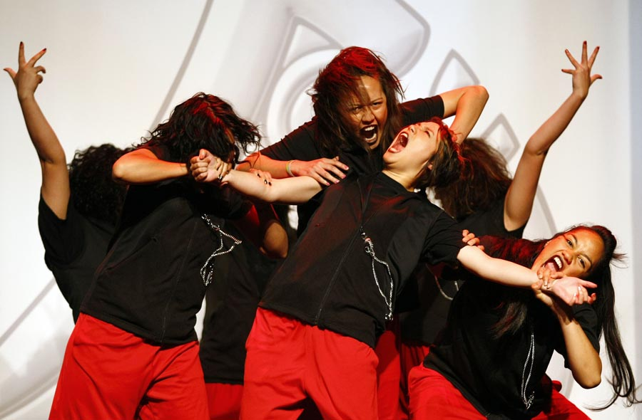 World Champion Hip Hop crew ReQuest entertain the guests. Trillian Trust Maori Sports Awards, Manukau Events Centre, Auckland. Saturday 5 December 2009. Photo: Simon Watts/PHOTOSPORT