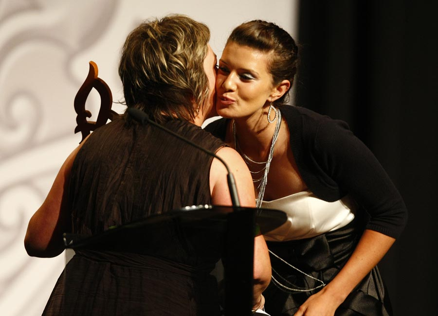 Junior Sportswoman of the Year Award winner Tiffany Piper (pistol shooting). Trillian Trust Maori Sports Awards, Manukau Events Centre, Auckland. Saturday 5 December 2009. Photo: Simon Watts/PHOTOSPORT