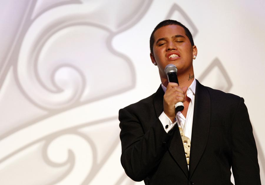 Australian Idol winner Stan Walker. Trillian Trust Maori Sports Awards, Manukau Events Centre, Auckland. Saturday 5 December 2009. Photo: Simon Watts/PHOTOSPORT