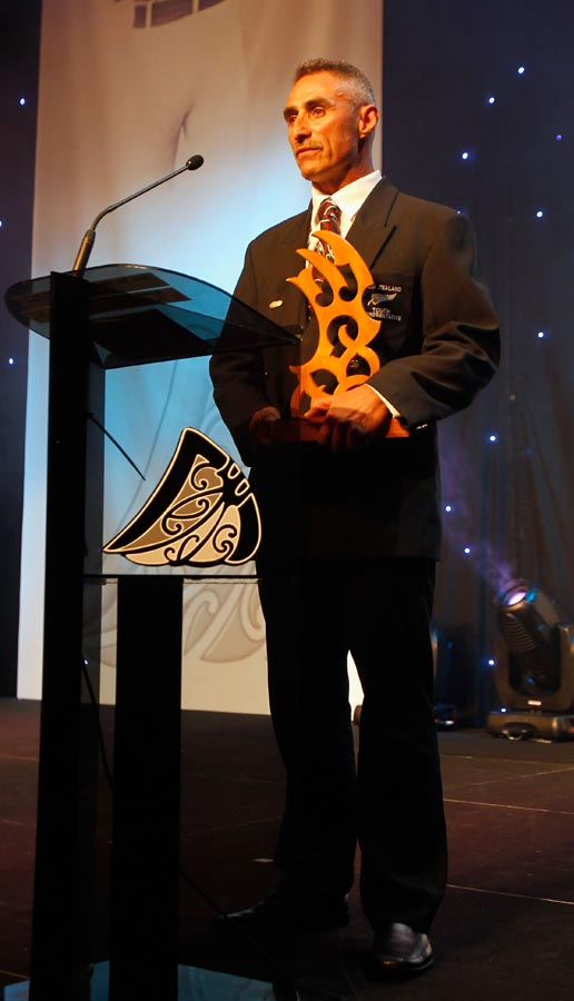 Award recipient Peter Walters. Trillian Trust 2011 Maori Sports Awards, Telstra Clear Pacific Events Centre, Saturday 3rd December 2011. Photo: Shane Wenzlick / Photosport.co.nz