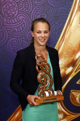 Olympic gold medalist Lisa Carrington is awarded Senior Maori Sportswoman. Maori Sports Awards, Telstra Pacific Events Centre Manukau, Saturday 24th November 2012. Photo: Shane Wenzlick / Photosport.co.nz