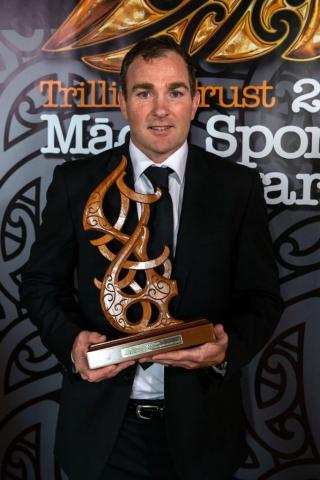Glen Jackson, (Ngai Tahu), Rugby wins the Maori Umpire/Referee Award at the Trillian Trust Maori Sports Awards, Turangawaewae Marae, River Road, Ngaruawahia, Saturday, November 28, 2015. Copyright photo: David Rowland / www.photosport.nz