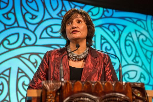 Waimarama Tauanu at the Trillian Trust Maori Sports Awards, Turangawaewae Marae, River Road, Ngaruawahia, Saturday, November 28, 2015. Copyright photo: David Rowland / www.photosport.nz