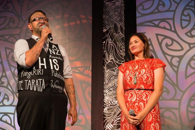 Rob Ruha entertains at the Trillian Trust Maori Sports Awards, Turangawaewae Marae, River Road, Ngaruawahia, Saturday, November 28, 2015. Copyright photo: David Rowland / www.photosport.nz