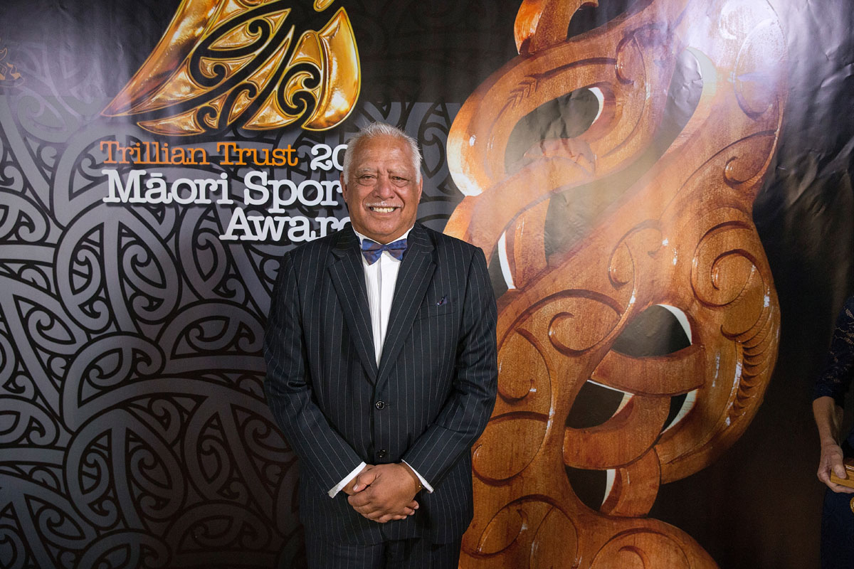 Hemana Waaka at the Trillian Trust Maori Sports Awards, Turangawaewae Marae, River Road, Ngaruawahia, Saturday, November 28, 2015. Copyright photo: David Rowland / www.photosport.nz