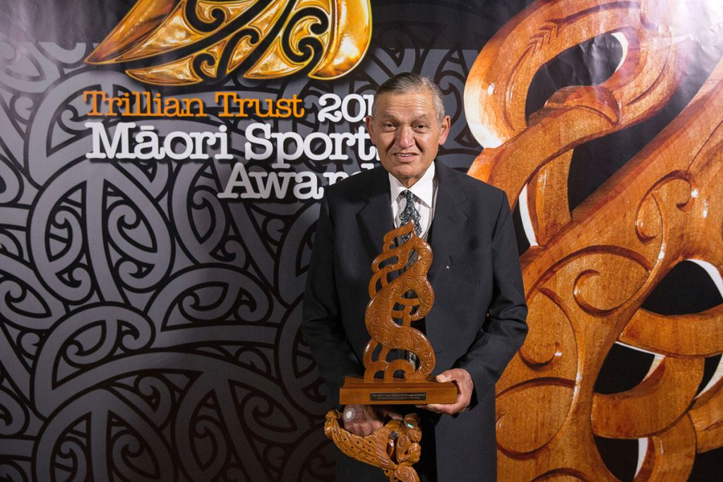 Kiingi Tuheitia at the Trillian Trust Maori Sports Awards, Turangawaewae Marae, River Road, Ngaruawahia, Saturday, November 28, 2015. Copyright photo: David Rowland / www.photosport.nz