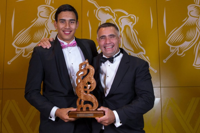 Albie Pryor Memorial Maori Sportsperson of the Year was awarded to Tai and Jason Wynyard at the Maori Sports Awards 2014, Vodafone Events Centre, Manukau, Auckland, New Zealand, Saturday, November 29, 2014. Photo: David Rowland/Photosport