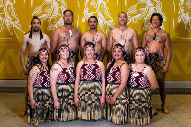 Entertainment Group Te Roopu o Te Whanau-a-Apanui at the Maori Sports Awards 2014, Vodafone Events Centre, Manukau, Auckland, New Zealand, Saturday, November 29, 2014. Photo: David Rowland/Photosport