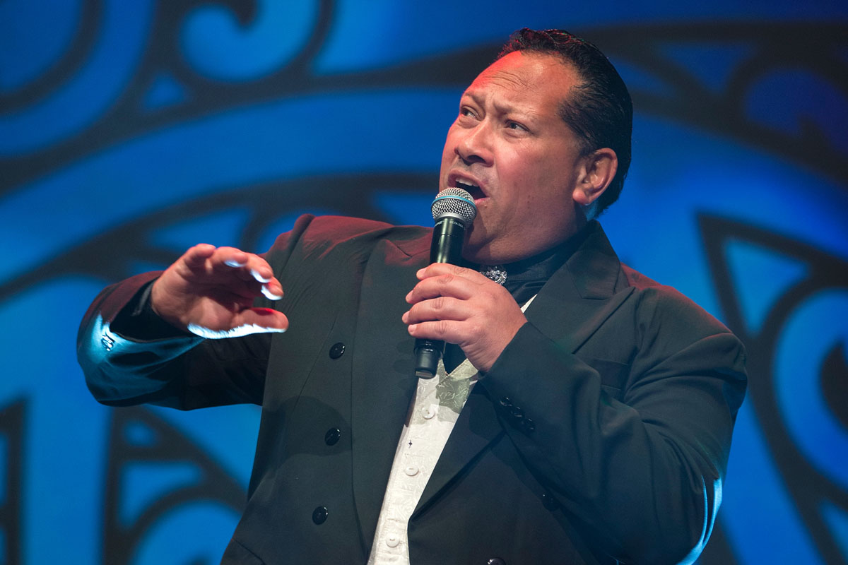 Singer Ash Puriri performs at the Maori Sports Awards 2014, Vodafone Events Centre, Manukau, Auckland, New Zealand, Saturday, November 29, 2014. Photo: David Rowland/Photosport
