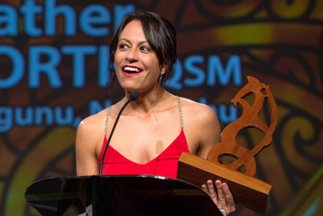 Maori Sports Administrator was awarded to Trina Tamati at the Maori Sports Awards 2014, Vodafone Events Centre, Manukau, Auckland, New Zealand, Saturday, November 29, 2014. Photo: David Rowland/Photosport