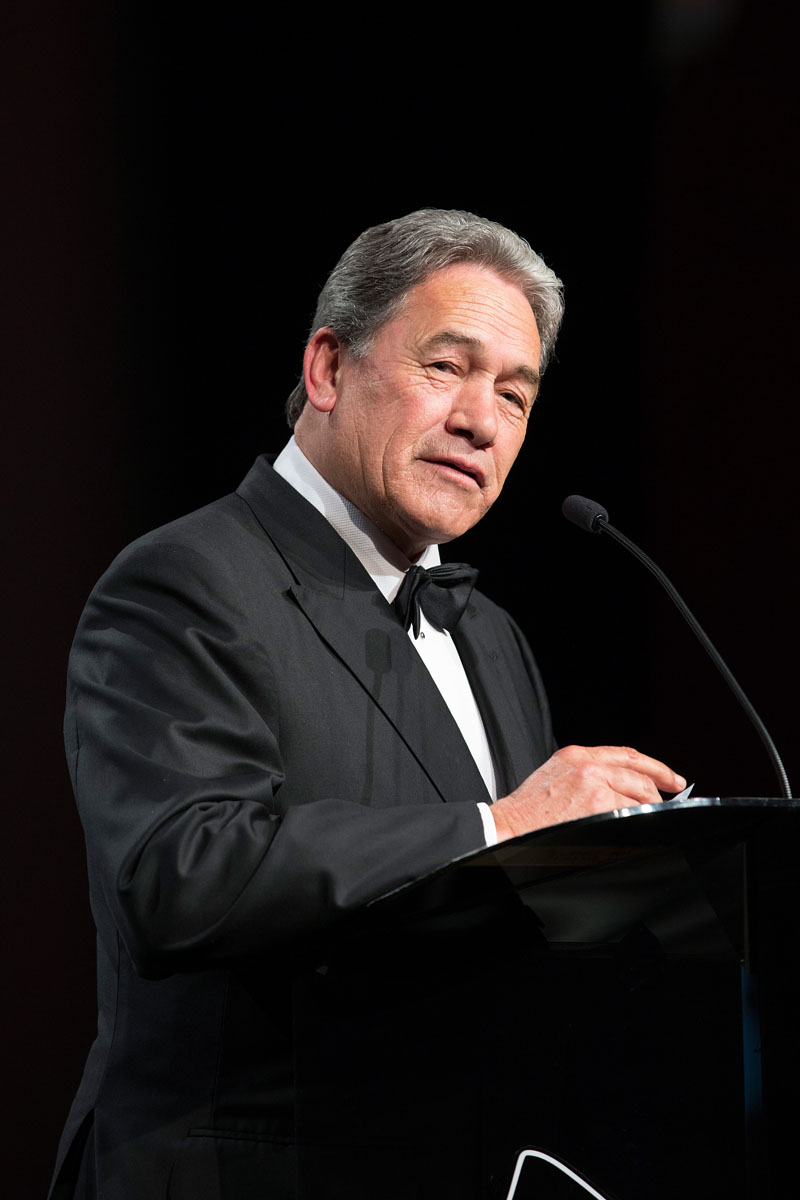 Winston Peters speaks at the Maori Sports Awards 2014, Vodafone Events Centre, Manukau, Auckland, New Zealand, Saturday, November 29, 2014. Photo: David Rowland/Photosport