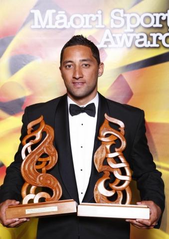 Supreme Award winner and Sportsman of the Year Benji Marshall. Trillian Trust Maori Sports Awards, Manukau Events Centre, Auckland. Saturday 5 December 2009. Photo: Simon Watts/PHOTOSPORT