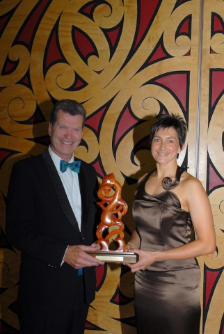 John Webster (UNITEC)  Yvette McCausland Durie (Coach of The Year)