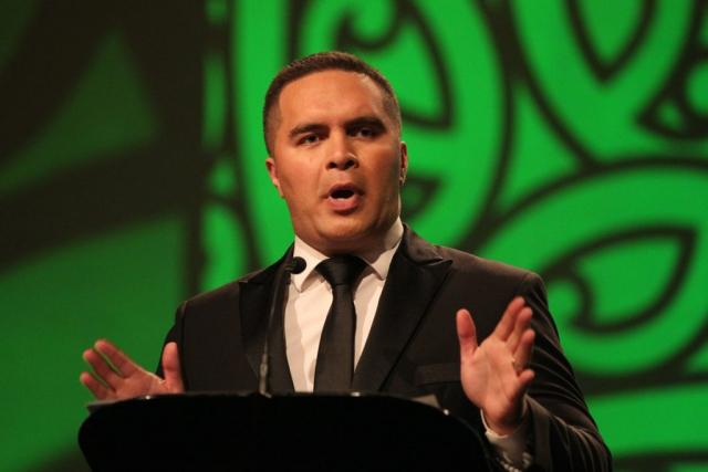 MC Te Arahi Maipi at the 2013 Trillian Trust Maori Sports Awards at Vodafone Events Centre, Manukau. Photo: Fiona Goodall/photosport.co.nz