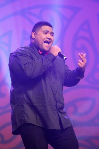 2013  Whenua Patuwai performs at the Trillian Trust Maori Sports Awards at Vodafone Events Centre, Manukau. Photo: Fiona Goodall/photosport.co.nz