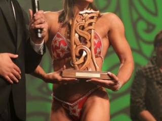 2013  Individual Maori world champion awarded to Teneka Hyndman for pro figure body building at the Trillian Trust Maori Sports Awards at Vodafone Events Centre, Manukau. Photo: Fiona Goodall/photosport.co.nz