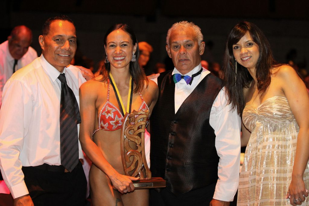 2013  Teneka Hyndman with the guests at the Trillian Trust Maori Sports Awards at Vodafone Events Centre, Manukau. Photo: Fiona Goodall/photosport.co.nz