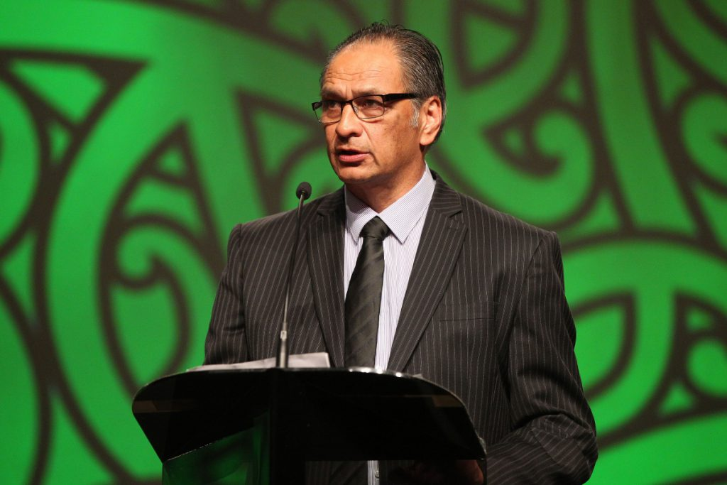 2013  Kevin Pryor presents the Maori Sportsperson of the Year Award at the Trillian Trust Maori Sports Awards at Vodafone Events Centre, Manukau. Photo: Fiona Goodall/photosport.co.nz