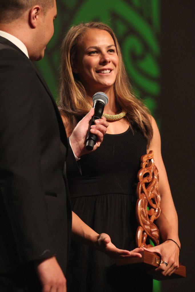 2013  New Maori Sportsperson of the Year, Lisa Carrington for canoeing at the Trillian Trust Maori Sports Awards at Vodafone Events Centre, Manukau. Photo: Fiona Goodall/photosport.co.nz