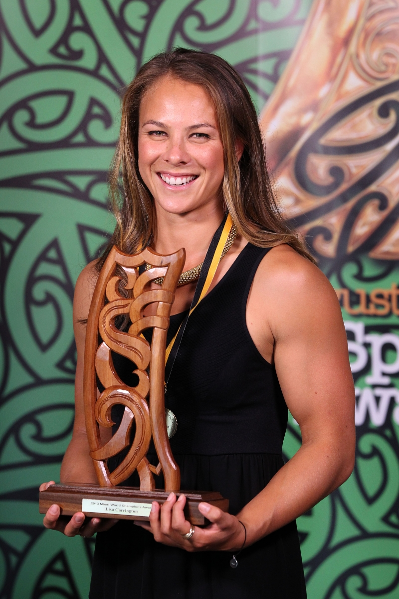 2013 Individual Maori World Champion canoeist Lisa Carrington at the Trillian Trust Maori Sports Awards at Vodafone Events Centre, Manukau. Photo: Fiona Goodall/photosport.co.nz