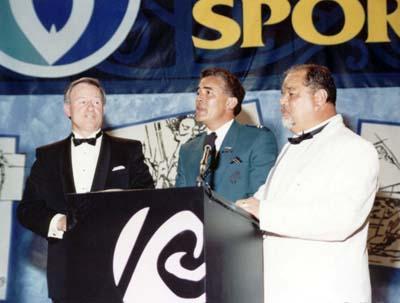 PM Jim Bolger, Piripi Monroe, Judge Mick Brown