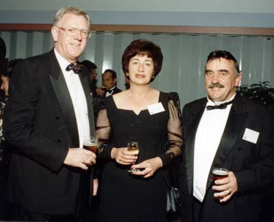 Mr and Mrs Colin Dale, Dick Garratt