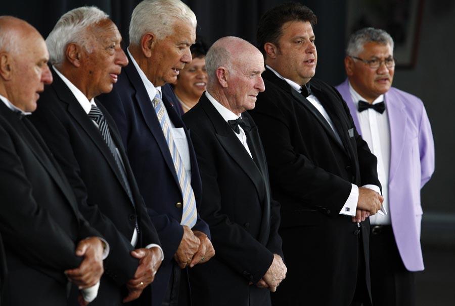 Sir Murray Halburg, welcome powhiri. Trillian Trust 20th Maori Sports Awards, Telstra Clear Events Centre, Manukau, Auckland, Saturday 4 December 2010. Photo: Simon Watts/photosport.co.nz