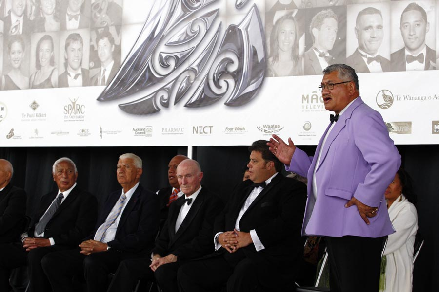 Welcome powhiri. Trillian Trust 20th Maori Sports Awards, Telstra Clear Events Centre, Manukau, Auckland, Saturday 4 December 2010. Photo: Simon Watts/photosport.co.nz