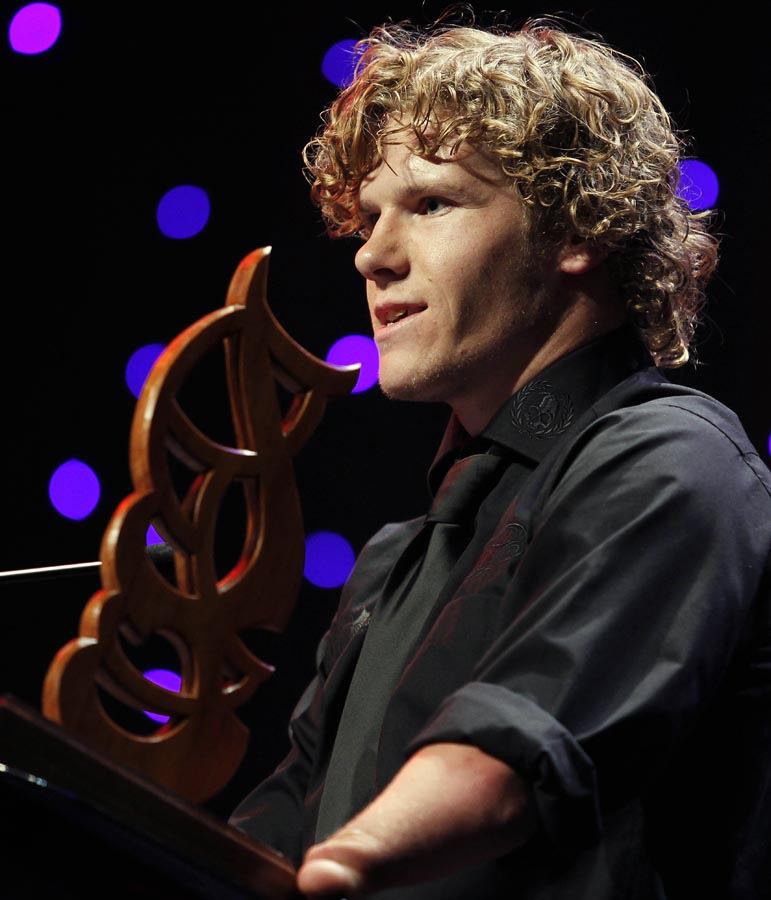 Disabled Sports Person of the Year Cameron Leslie.  Trillian Trust 20th Maori Sports Awards, Telstra Clear Events Centre, Manukau, Auckland, Saturday 4 December 2010. Photo: Simon Watts/photosport.co.nz