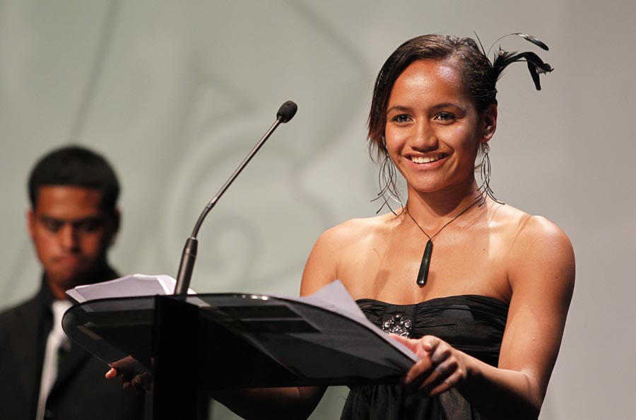 MIT Scholarship recipient Lesha Teiho. Trillian Trust 20th Maori Sports Awards, Telstra Clear Events Centre, Manukau, Auckland, Saturday 4 December 2010. Photo: Simon Watts/photosport.co.nz