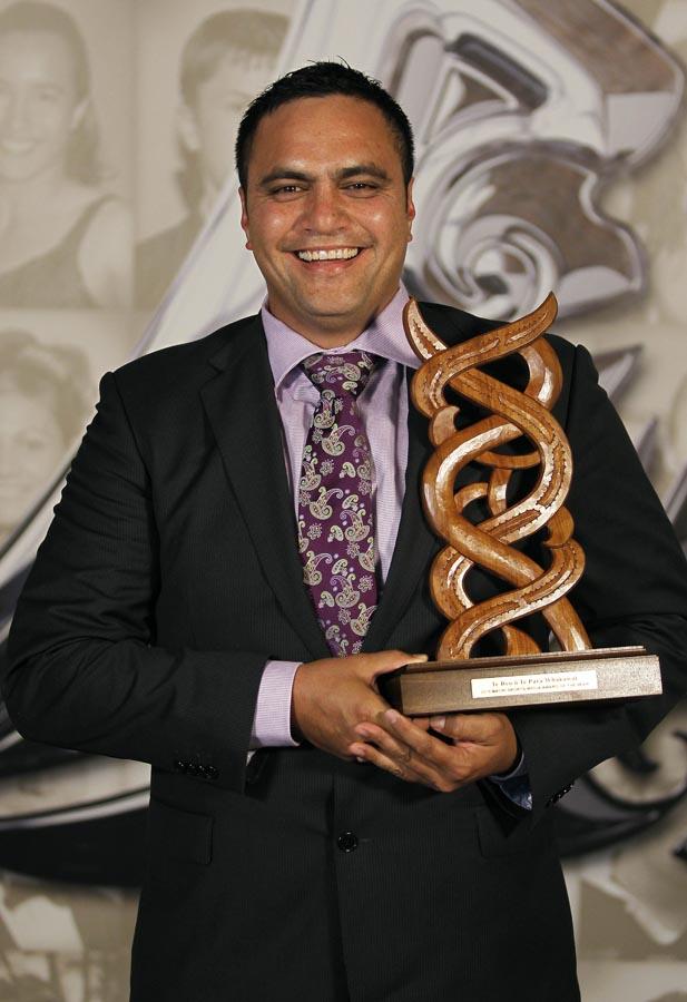 Maori Sports Media Award recipient Bailey Mackey. Trillian Trust 20th Maori Sports Awards, Telstra Clear Events Centre, Manukau, Auckland, Saturday 4 December 2010. Photo: Simon Watts/photosport.co.nz