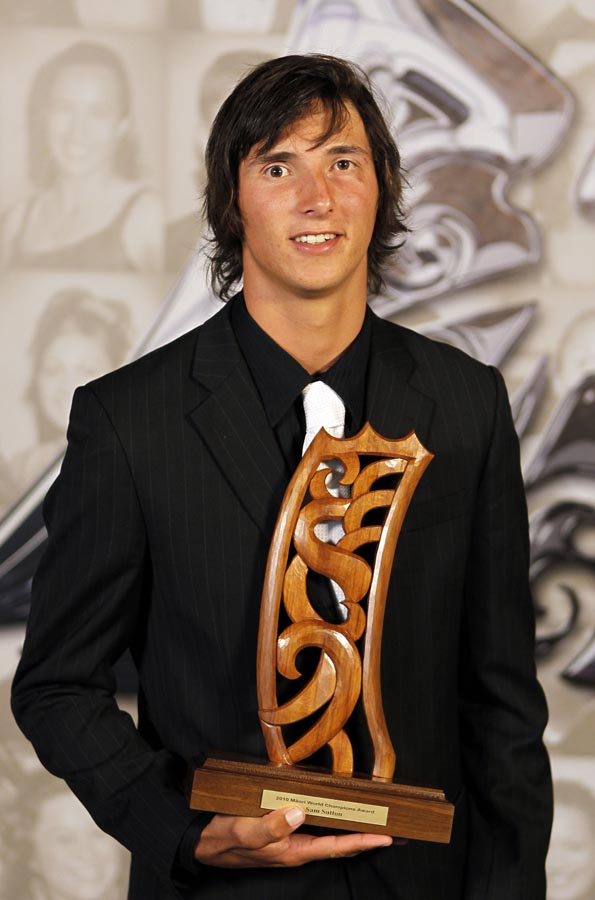 Sam Sutton, world champion extreme kayaking. Trillian Trust 20th Maori Sports Awards, Telstra Clear Events Centre, Manukau, Auckland, Saturday 4 December 2010. Photo: Simon Watts/photosport.co.nz