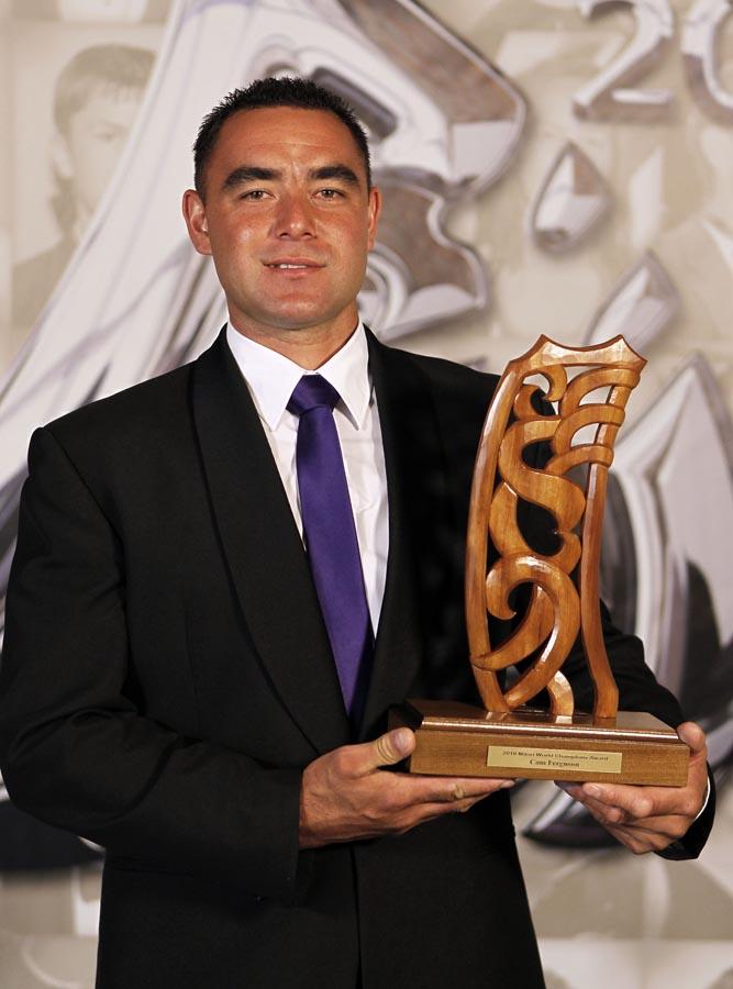 Cam Ferguson, world champion shearer. Trillian Trust 20th Maori Sports Awards, Telstra Clear Events Centre, Manukau, Auckland, Saturday 4 December 2010. Photo: Simon Watts/photosport.co.nz