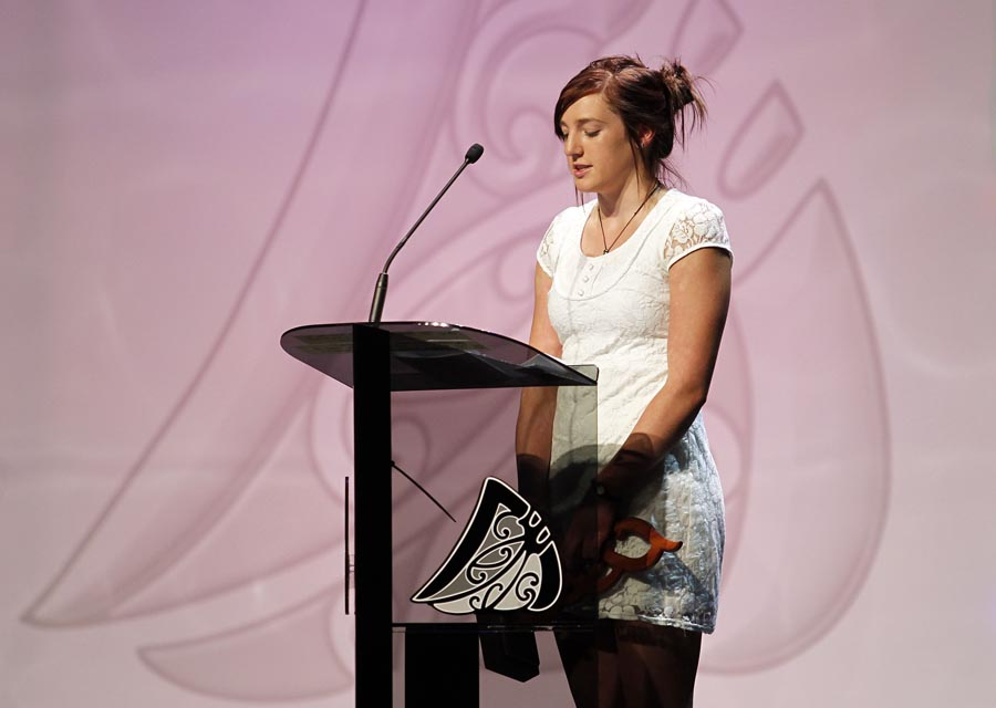 Junior Maori Sportswoman Dayna Maree Turnbull. Trillian Trust 20th Maori Sports Awards, Telstra Clear Events Centre, Manukau, Auckland, Saturday 4 December 2010. Photo: Simon Watts/photosport.co.nz