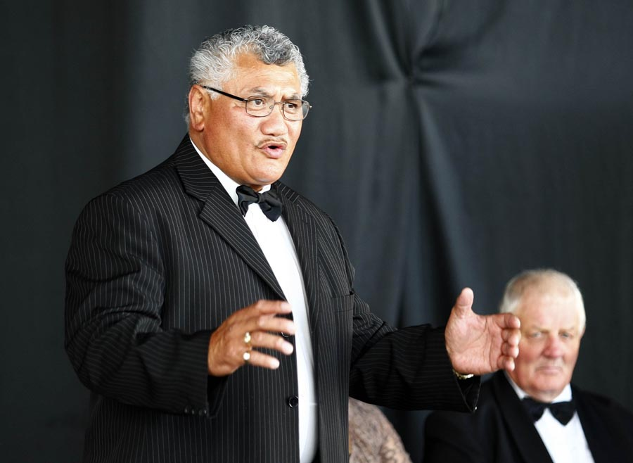 Speaker during the Powhiri. Trillian Trust Maori Sports Awards, Manukau Events Centre, Auckland. Saturday 5 December 2009. Photo: Simon Watts/PHOTOSPORT