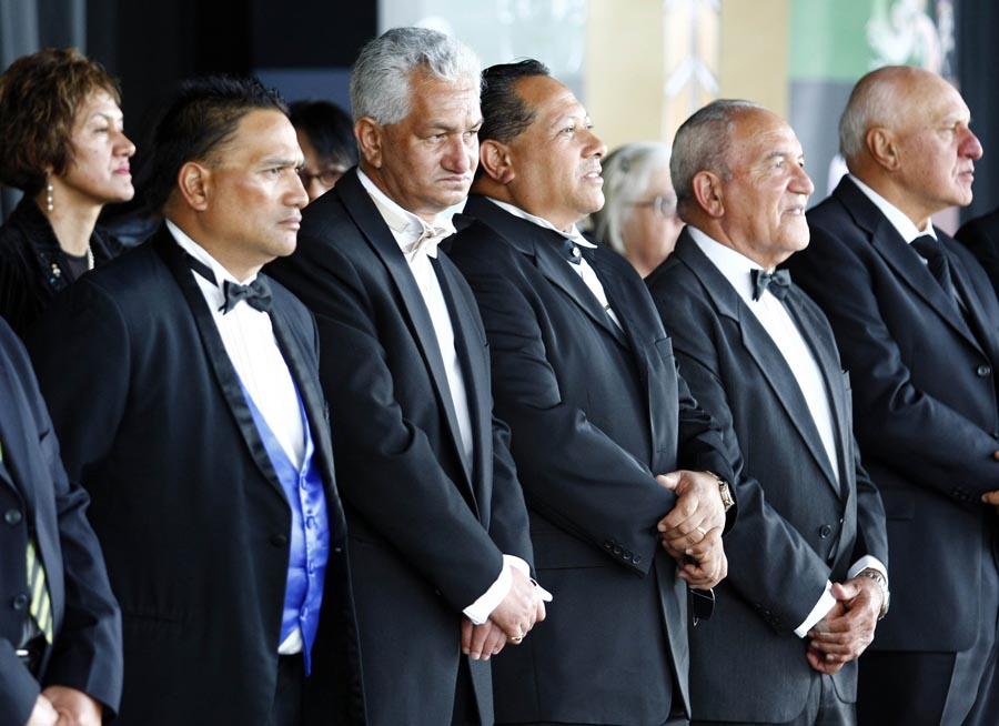 Members of the Board of trustees during the Powhiri. Trillian Trust Maori Sports Awards, Manukau Events Centre, Auckland. Saturday 5 December 2009. Photo: Simon Watts/PHOTOSPORT