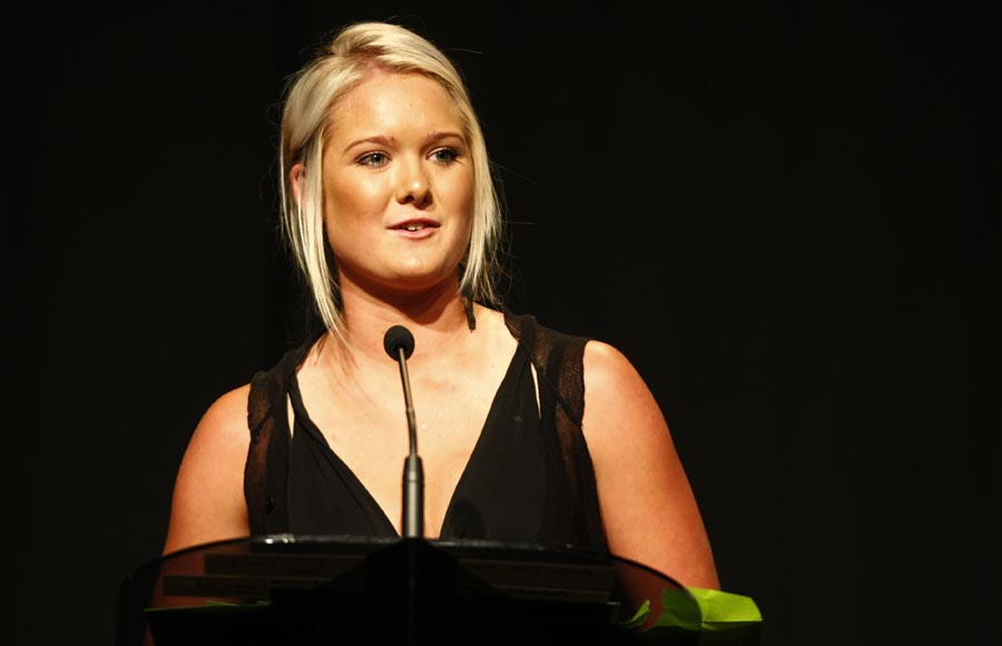 Maori Sports Awards Scholarship recipient Samantha Harrison (hockey). Trillian Trust Maori Sports Awards, Manukau Events Centre, Auckland. Saturday 5 December 2009. Photo: Simon Watts/PHOTOSPORT