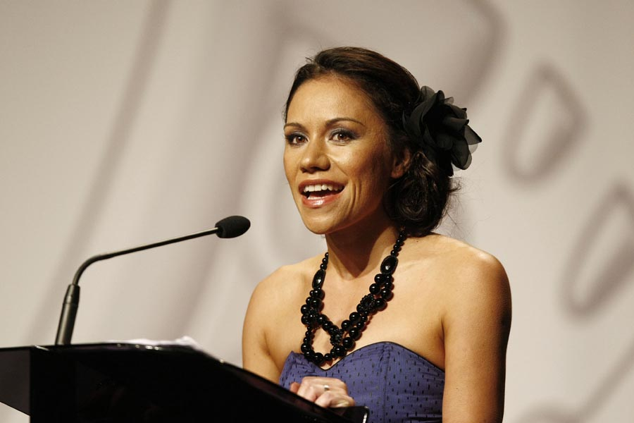 Host Stacey Morrison. Trillian Trust Maori Sports Awards, Manukau Events Centre, Auckland. Saturday 5 December 2009. Photo: Simon Watts/PHOTOSPORT