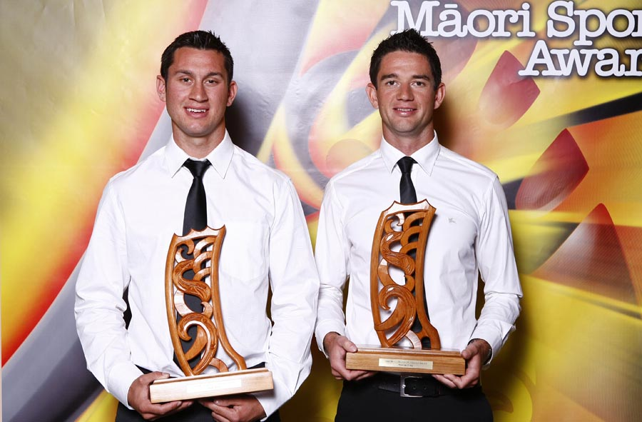 Maori World Rowing Champions Jade Uru and Storm Uru. Trillian Trust Maori Sports Awards, Manukau Events Centre, Auckland. Saturday 5 December 2009. Photo: Simon Watts/PHOTOSPORT