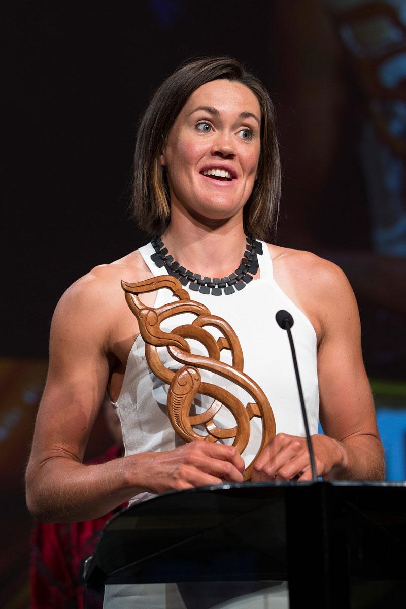 Senior Maori Sportswoman was awarded to rower Fiona Bourke at the Maori Sports Awards 2014, Vodafone Events Centre, Manukau, Auckland, New Zealand, Saturday, November 29, 2014. Photo: David Rowland/Photosport